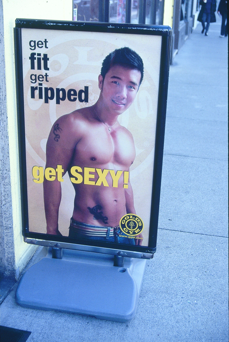 Gold's Gym advertisement - Max Kirkeberg Collection