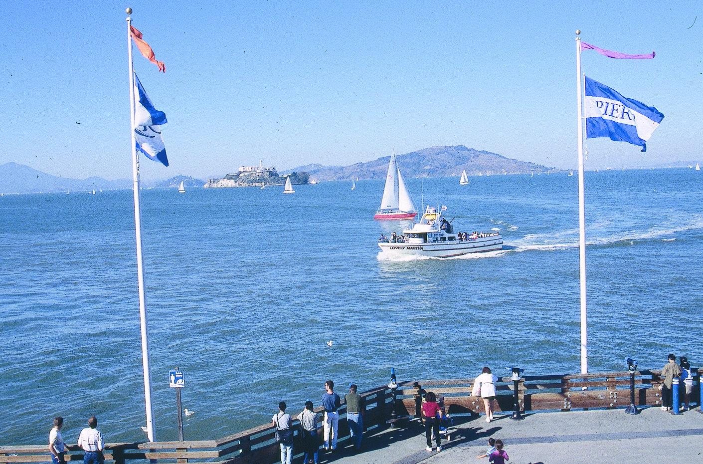 Alcatraz Island And Angel Island As Seen From Pier 39 1997 Max