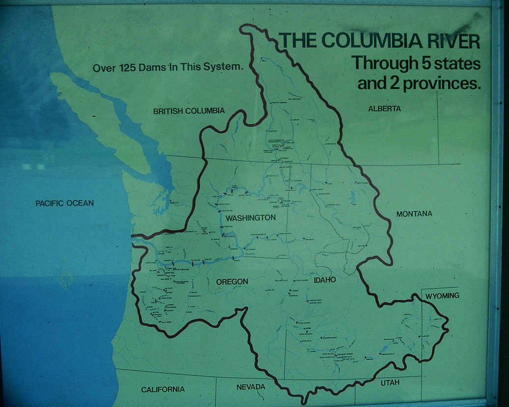 Image of: Columbia River Map Earth A Work In Progress